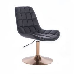 Kosmetická židle PARIS na zlatém talíři - černá