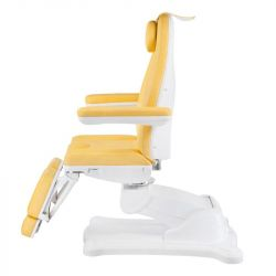 Elektrické křeslo kosmetické BR-6672A žluté