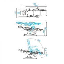 Kosmetické křeslo elektrické AZZURRO 870 šedé