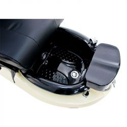 Kosmetické pedikérské křeslo SPA TS1204 ecru/černé s masáží