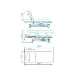 SPA Kosmetické lehátko AZZURRO 3684 bílé