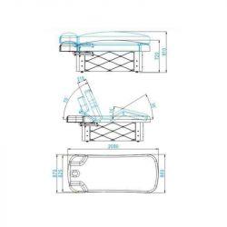 SPA Kosmetické lehátko AZZURRO KRYSTAL 370-3 bílé
