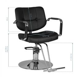 GABBIANO Kadeřnická židle VIGO - černá
