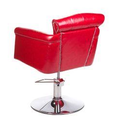 Barber židle ALBERTO BH-8038 - červená