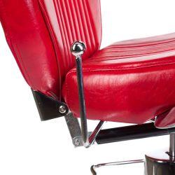 Barber židle OLAF BH-3273 - červená