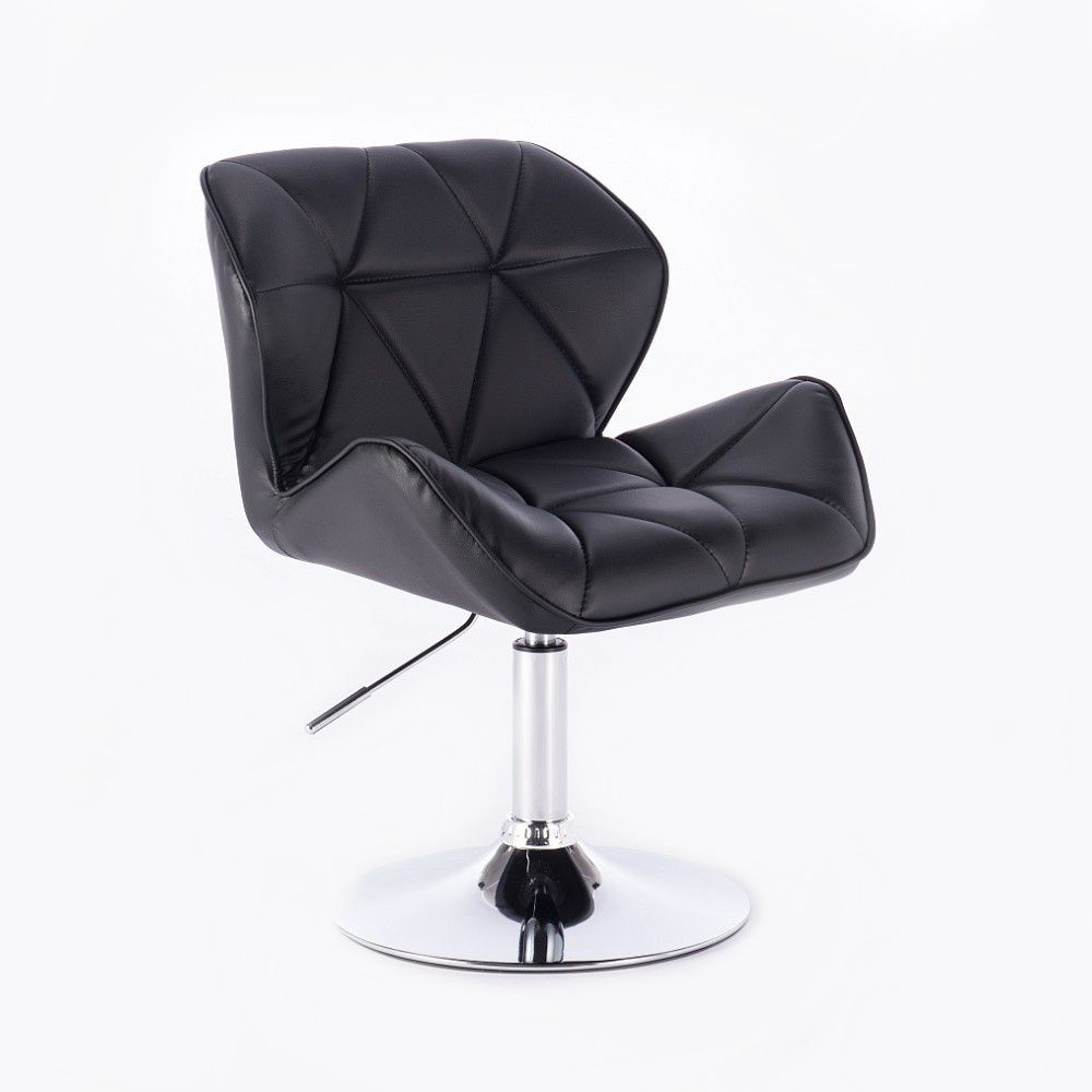 Kosmetická židle MILANO na kulaté podstavě černá