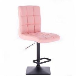Barová židle TOLEDO na černé podstavě - růžová