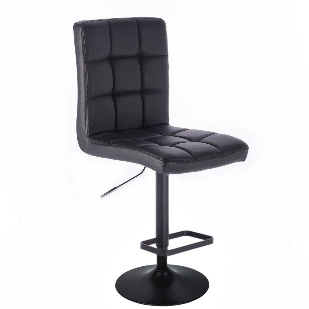 Barová židle TOLEDO na černém talíři - černá