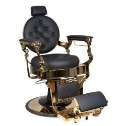 GABBIANO Barber křeslo CLAUDIUS GOLD - černé