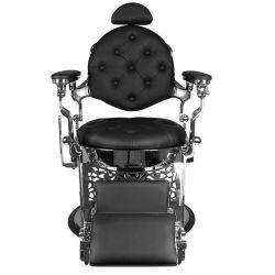 GABBIANO Barber křeslo GIULIO - černo-stříbrné