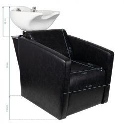 Kadeřnický mycí box HSB79 - černý