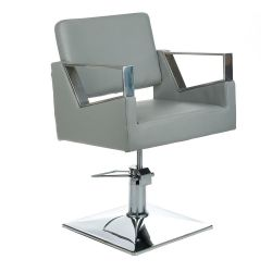 Kadeřnická židle Arturo BR-3936A  - světle šedá