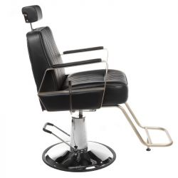 Barbers - holičské křeslo HOMER BH-31237 černé LUX
