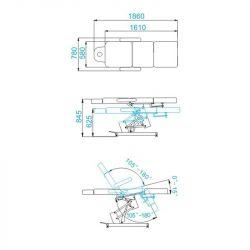 Elektrické kosmetické křeslo AZZURRO 705 s 1 motorem