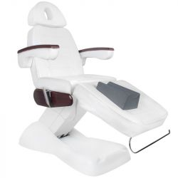 Elektrické kosmetické křeslo LUX bílé / mahagon
