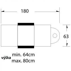Kosmetické křeslo hydraulické A 234 bílé