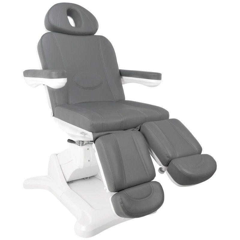 Otočné elektrické kosmetické křeslo 2246A PEDI šedé