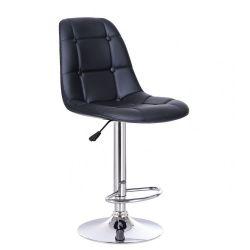 Barová židle SAMSON na stříbrném talíři - černá