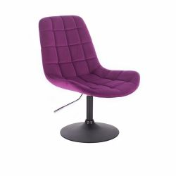 Kosmetická židle PARIS VELUR na černém talíři - fuchsie
