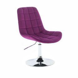 Kosmetická židle PARIS VELUR na stříbrném talíři - fuchsie