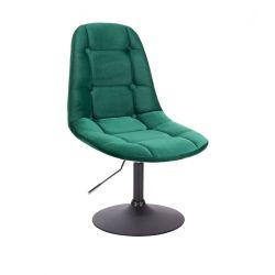 Kosmetická židle SAMSON VELUR na černém talíři - zelená