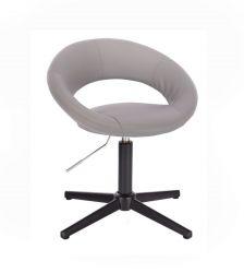 Kosmetická židle NAPOLI na černém kříži - šedá