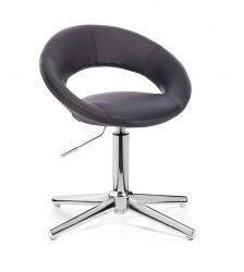 Kosmetická židle NAPOLI na stříbrném kříži - černá