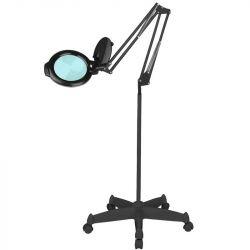 """Lampa s lupou LED MOONLIGHT 8013/6"""" černá na stativu"""