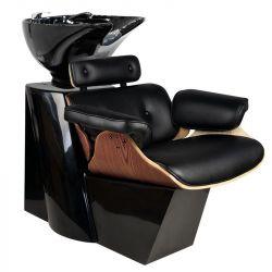 Kadeřnický mycí box FLORENCE - černý-ořech