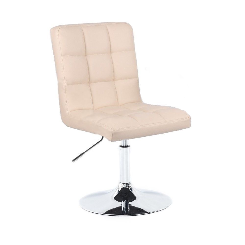 Kosmetická židle TOLEDO na stříbrném talíři - krémová