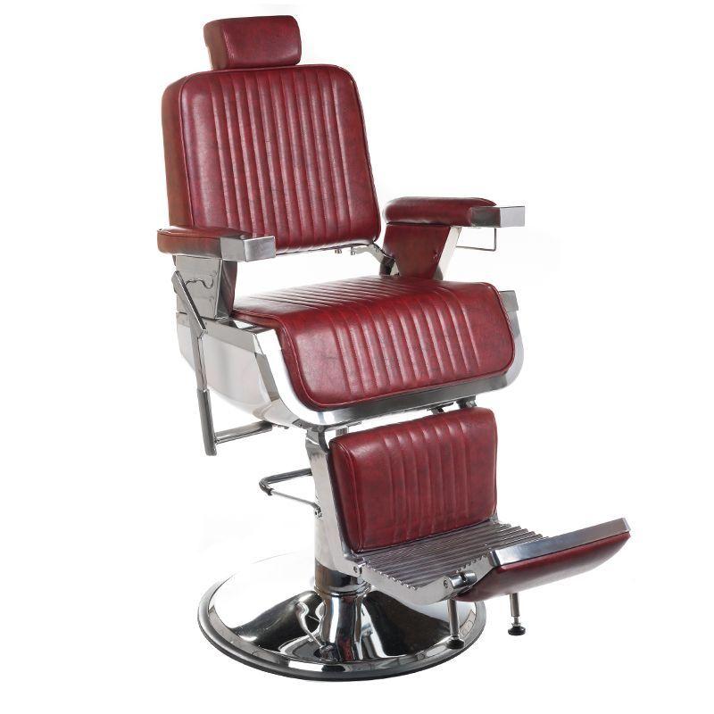 Barbers křeslo LUMBER BH-31823 Burgundi
