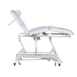 Elektrické polstrované masážní lůžko BT-2120 bílé