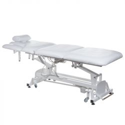 Elektrické polstrované masážní lehátko BT-2120 bílé (BS)