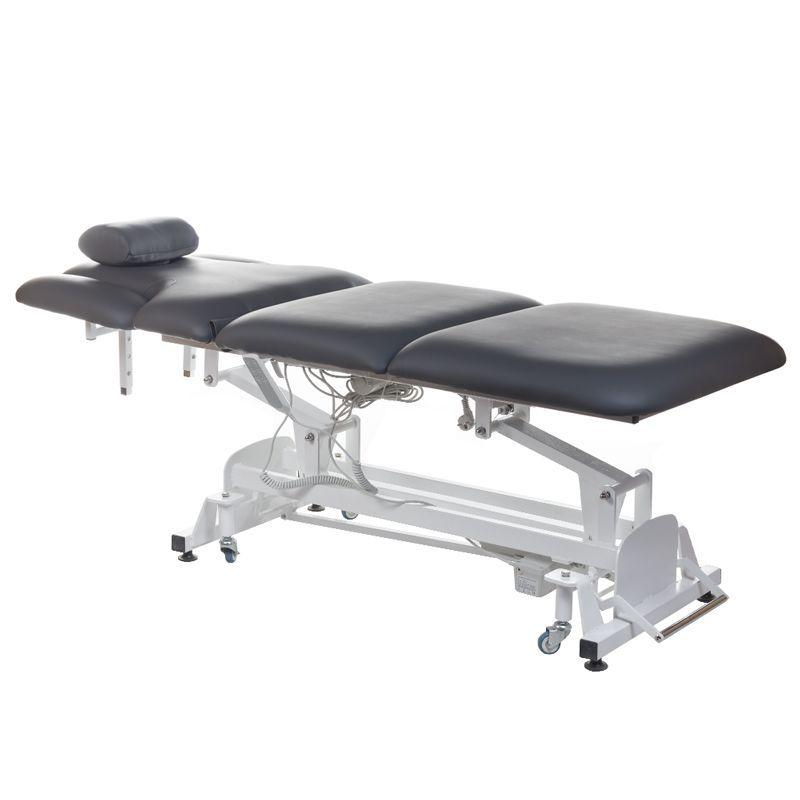 Elektrické polstrované masážní lůžko BT-2120 šedé
