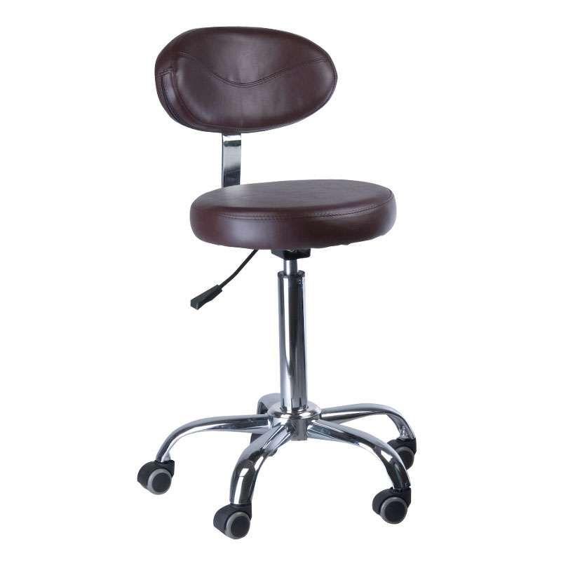 Kosmetická stolička s opěrátkem BD-9934 hnědá