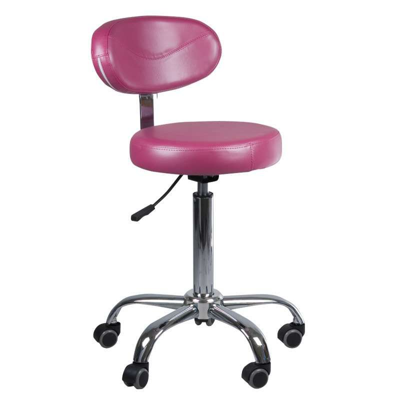 Kosmetická stolička s opěrátkem BD-9934 vřesová