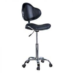 Kosmetická stolička s opěrkou BD-9933 černá
