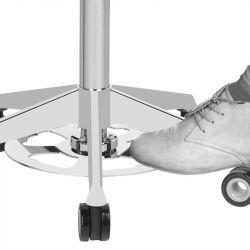 Kosmetický taburet AZZURRO 156F BUMP-UP bílý