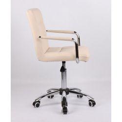 Kosmetická židle na kolečkách HC-1015KP krémová
