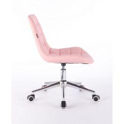 Židle na kolečkách HR590K růžová