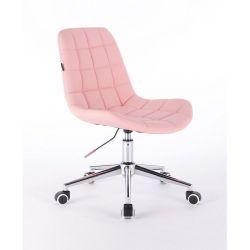 Kosmetická židle HR590K na kolečkách růžová (V)