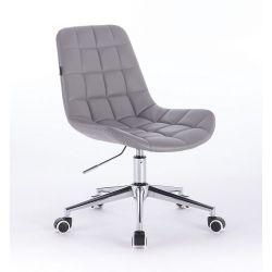 Kosmetická židle HR590K na kolečkách šedá (V)