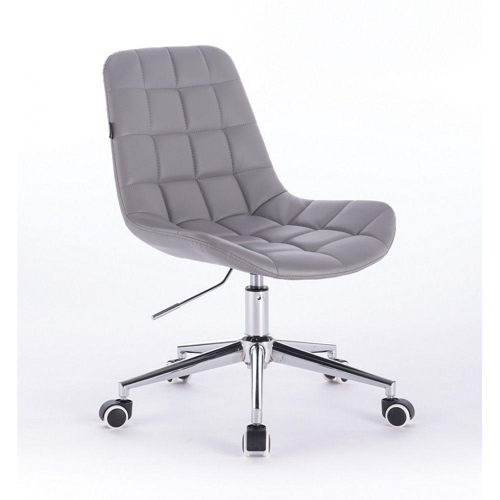 Kosmetická židle HR590K na kolečkách šedá