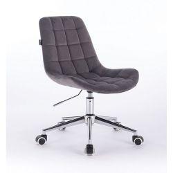 Kosmetická židle na kolečkách HR590K velurová (V)
