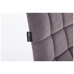 Kosmetická židle na kulaté podstavě HR590N velur - grafitová