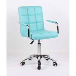 Židle na kolečkách HC-1015KP tyrkysová (V)
