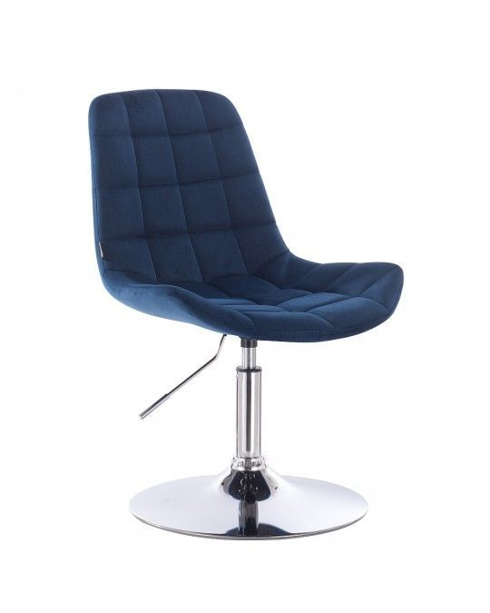 Židle na kulaté podstavě HR590N velur - temné moře