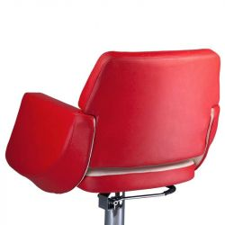 Kadeřnické křeslo NICO BD-1088 červeno-béžové
