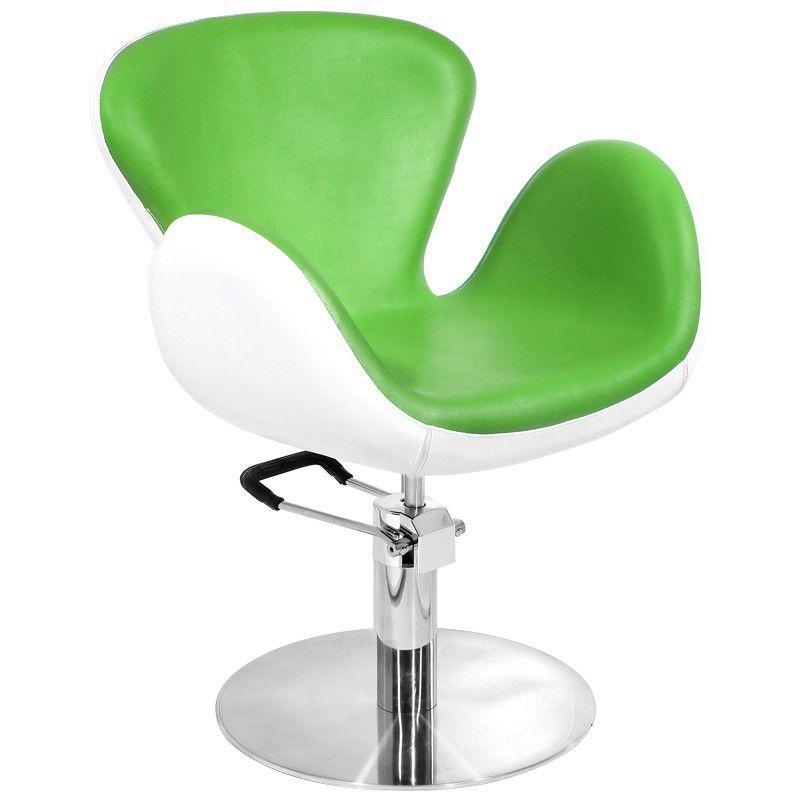 Kadeřnické křeslo GABBIANO AMSTERDAM zeleno-bílé