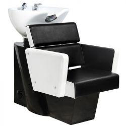 Kadeřnický mycí box GABBIANO DUBLIN bílo-černý (AS)